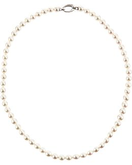 Round White Pearl Necklace
