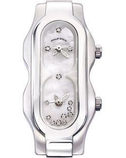 Stainless Steel Diamond Mini Signature Watch Head