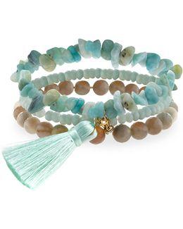 Amazonite Stretch Bracelet Set