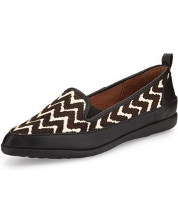 Lennox Chevron Calf-hair Loafer