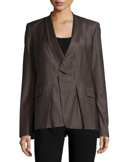 Long-sleeve Slim-fit Blazer