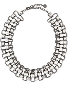 Crystal & Chain Collar Necklace