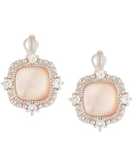 Chantilly Square Pink Mother-of-pearl Drop Earrings