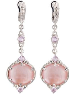 Allure Pink Mother-of-pearl Doublet Drop Earrings