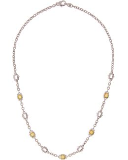 Estate Canary Crystal Necklace
