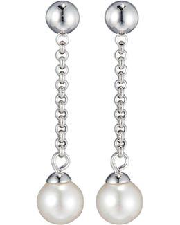 Allison Pearl & Chain Dangle Earrings
