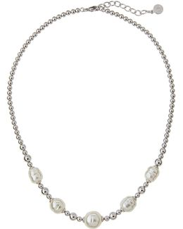 Allison Beaded Baroque Pearl Necklace