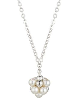 Holly Pearl Cluster Pendant Necklace