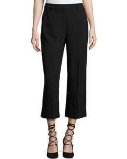 Flat-front Cropped Trouser