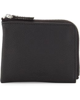 Small Leather Zip-around Wallet