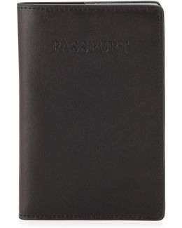 Pebbled Faux-leather Passport Case