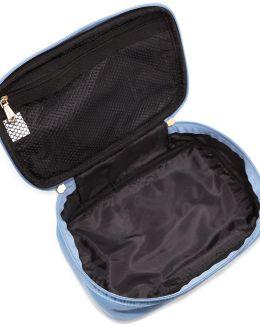 Zip-around Nylon Makeup Train Travel Bag