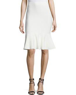 Stretch-knit Flounce Skirt