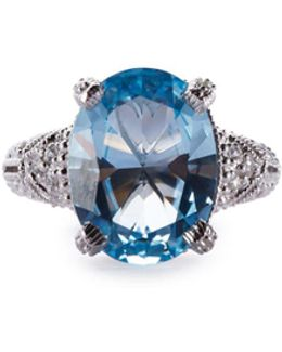 Estate Blue Topaz & Sapphire Cocktail Ring