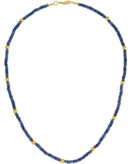 24k Gold & Blue Sapphire Gleam Rain Necklace