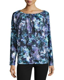 Rosalie Watercolor Print Top