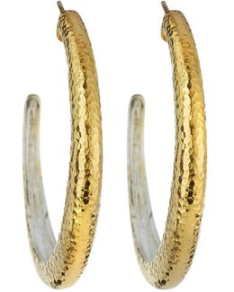 Hoopla Large Tapered Hoop Earrings