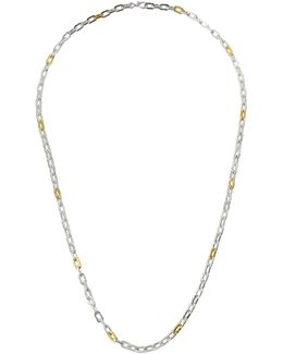 Two-tone Oval-link Chain Long Necklace