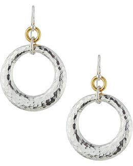 Hoopla Large Tapered Ring Drop Earrings