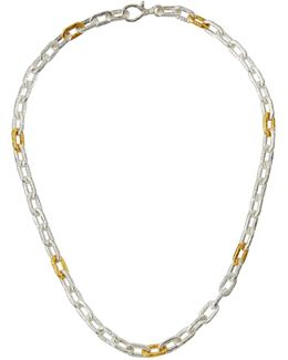 Two-tone Oval-link Chain Necklace