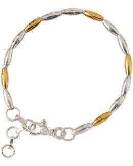 Wheat Two-tone Beaded Bracelet
