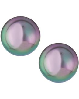 Gray Pearl Stud Earrings