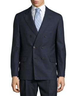 Double-breasted Two-piece Wool Suit