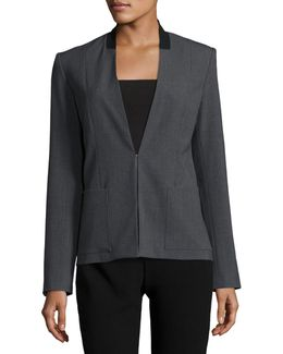 Farley Collarless Blazer Jacket