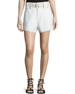 Belted Mid-rise Shorts