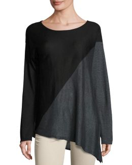 Asymmetric Long-sleeve Tunic
