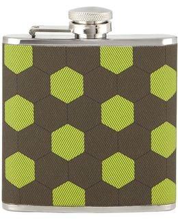 Honeycomb-print Fabric Flask