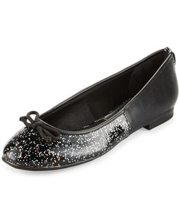 Banks Faux-leather Glitter Flat
