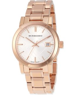 34mm Rose Golden-plated City Watch