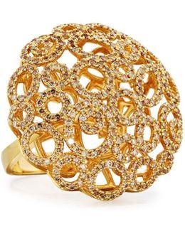 Mauresque 18k Open-circle Diamond Cocktail Ring