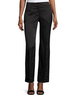 Tonal-print Wide-leg Trousers