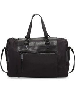 June Nylon Faux-leather Satchel Bag