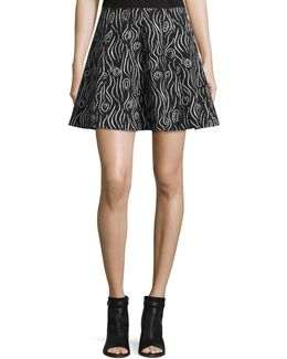 Laurel Swirl Flare Skirt