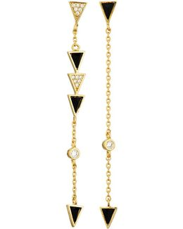 Mix-&-match Jet Arrow Dangle Earrings