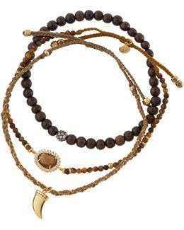 Mixed Tiger's Eye Beaded Bracelets