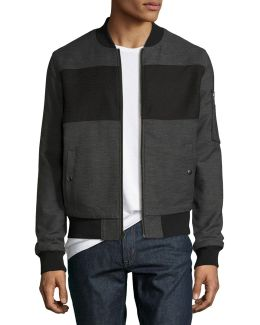Pieced Bomber Jacket
