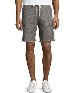Fleece Pull-on Cargo Shorts