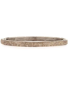 Pave Champagne Diamond Bangle Bracelet