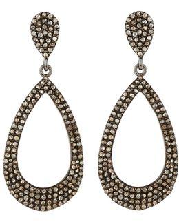 Pave Champagne Diamond Teardrop Earrings