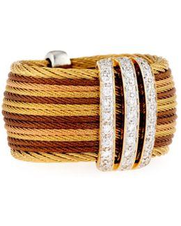 Petra Multi-row Micro-cable Pave Diamond Band Ring