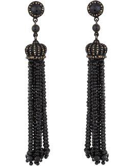 Multicolored Diamond & Spinel Tassel Earrings