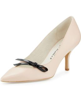 Addy Leather Bow Pump