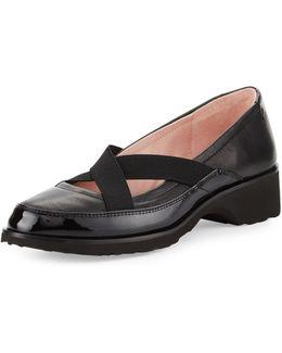 Twila Crisscross Leather Slip-on