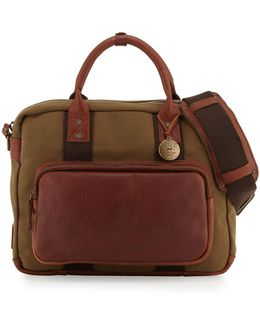 Lewis Canvas & Leather Briefcase