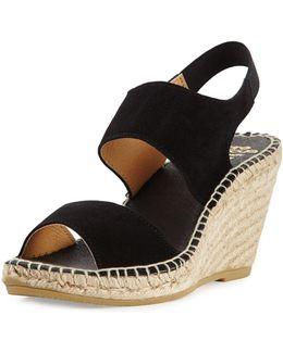 Brenda Suede Espadrille Wedge Sandal