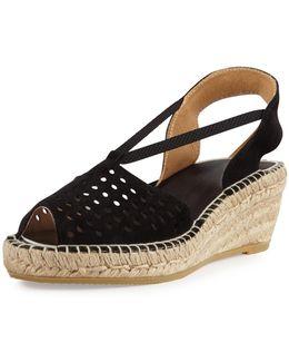 Corrine Suede Espadrille Wedge Sandal